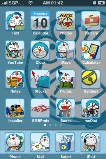Doraemon Apple IPhone Theme Mobile Theme