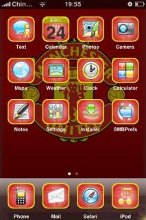 ManUtd Apple IPhone Theme Mobile Theme