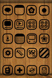 WooD Apple IPhone Theme Mobile Theme