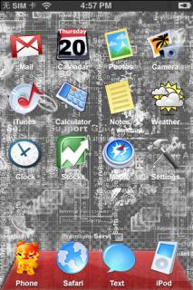 Mac Cartoon Style Crystal Apple IPhone Theme Mobile Theme