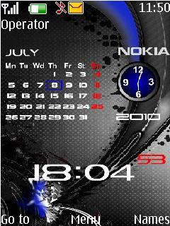 Nokia New Blue Calender Theme Mobile Theme