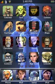 Clone Wars Apple IPhone Theme Mobile Theme