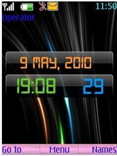 Dream Digital Clock Theme Mobile Theme