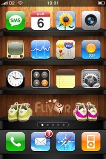 Flivor Rack Apple IPhone Theme Mobile Theme