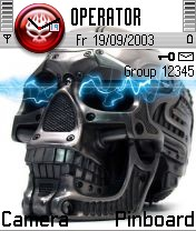 Electric Skull Nokia Theme Mobile Theme