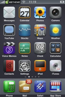 Deep Apple IPhone Theme Mobile Theme
