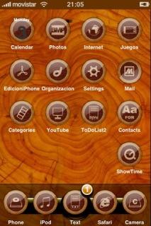 Elegant Wood Apple IPhone Theme Mobile Theme