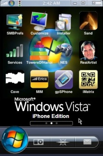 Windows Vista Apple IPhone Theme Mobile Theme