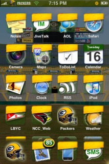 Green Bay Packers Apple IPhone Theme Mobile Theme