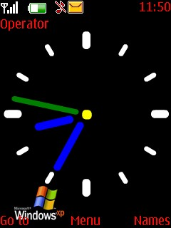 Windows Clock Theme Mobile Theme