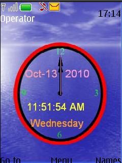 Clock Nokia Theme Mobile Theme