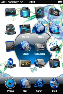 Blue Apple IPhone Theme Mobile Theme