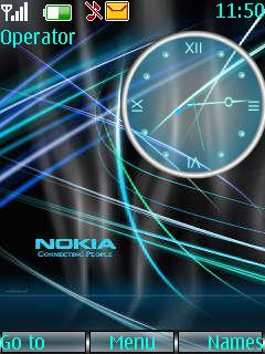 Nokia Clock Theme Mobile Theme