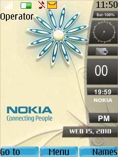 Nokia Sidebar Clock Theme Mobile Theme
