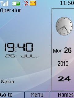 Nokia Vista Clock Theme Mobile Theme