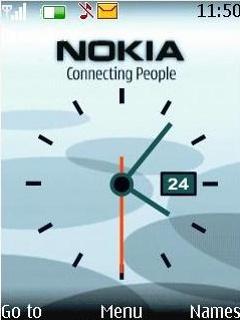 Animated Nokia Clock Theme Mobile Theme