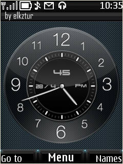 Analog Clock Mobile Theme