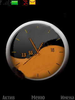 Black Brown Clock Mobile Theme