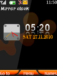 Mirror Clock Mobile Theme