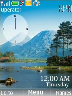 Natural Clock Mobile Theme