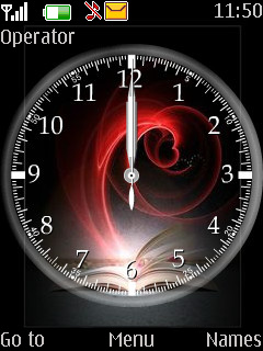 Rose Clock Mobile Theme