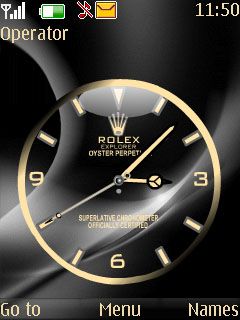 Swf Rolex Clock Mobile Theme
