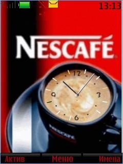 Nescafe Clock Mobile Theme