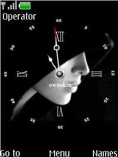 Swf Black Face Clock Mobile Theme