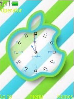 Swf Analog Clock Mobile Theme
