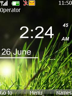 Windows Vista Clock Mobile Theme