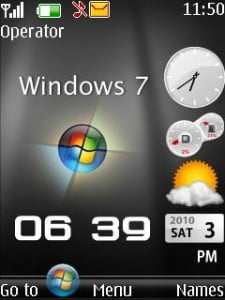 Windows7 Clock Mobile Theme