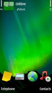 Green Aurora Mobile Theme