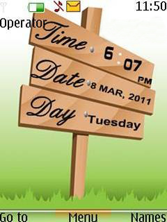 Digital Date Clock Mobile Theme
