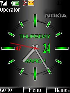 Nokia Clock Time Mobile Theme