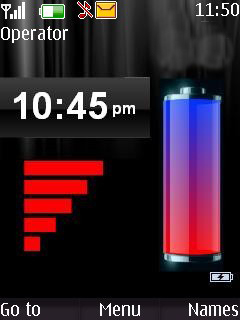 Signal N Battery Mobile Theme