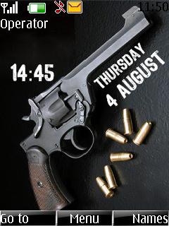 Gun Clock Mobile Theme
