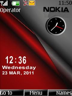 Nokia Dual Clock Mobile Theme