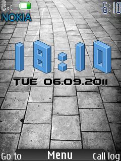 Android 3D Clock Mobile Theme