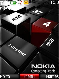 Nokia Digital Clock Mobile Theme