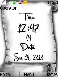 Time Nokia Mobile Theme