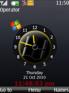 Hours Clock Mobile Theme