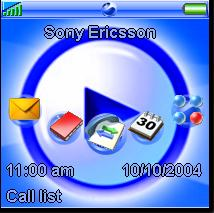 Sony Media Player Style Mobile Theme