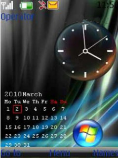 Clock N Calender Mobile Theme