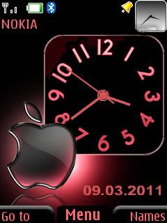Dual Clock With Icone Mobile Theme