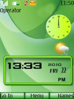 Windows Dual Clock Mobile Theme