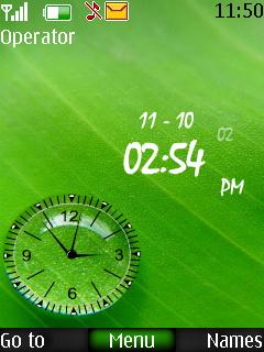 Drop Dual Clock Mobile Theme