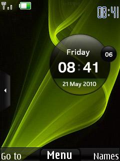 Samsung Star Clock Mobile Theme