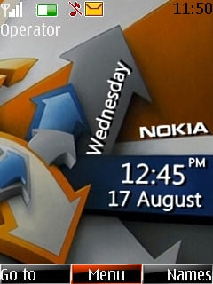 Nokia Clock Mobile Theme