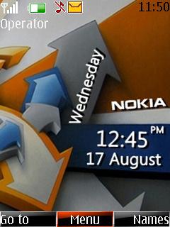 Nokia Clock Mobile Theme