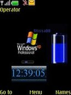 Windows Xp Clock Mobile Theme